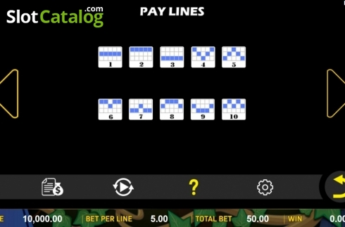 Paylines. Lucky Legend (Video Slot from Aspect Gaming)