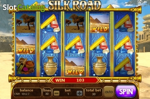 Win Screen. Silk Road (Aiwin Gaming) (Video Slots from Aiwin Games)