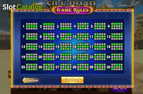 Paylines. Silk Road (Aiwin Gaming) (Video Slots from Aiwin Games)