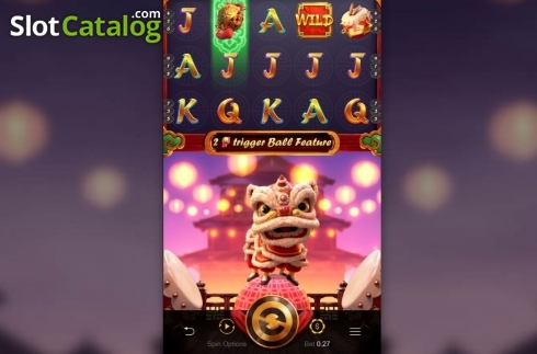Skjerm2. Prosperity Lion (Video Slot fra PG Soft)