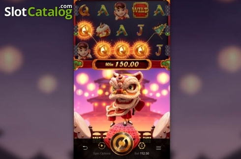 Skjerm3. Prosperity Lion (Video Slot fra PG Soft)
