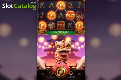Skjerm4. Prosperity Lion (Video Slot fra PG Soft)