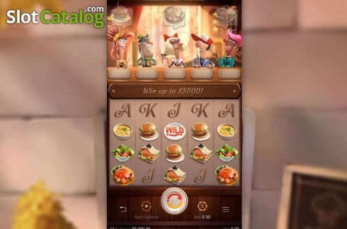 Reel Screen. Restaurant Craze (Video Slot from PG Soft)