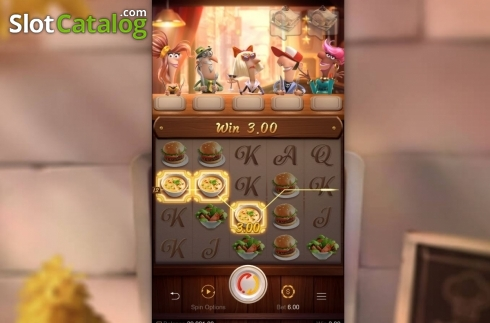Win Screen. Restaurant Craze (Video Slot from PG Soft)