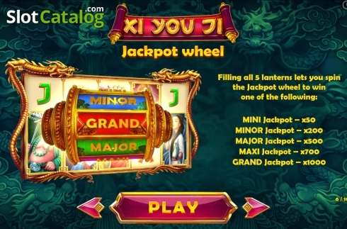 Paytable 6. Xi You Ji (Video Slot from Pariplay)