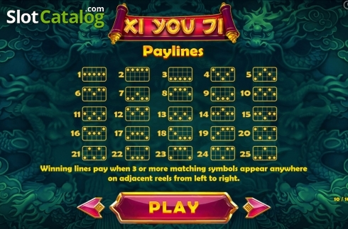 Paytable 10. Xi You Ji (Video Slot from Pariplay)