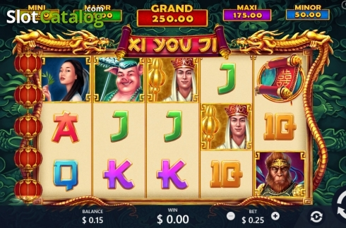 Reel screen. Xi You Ji (Video Slot from Pariplay)