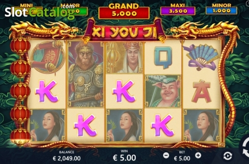 Low Win screen. Xi You Ji (Video Slot from Pariplay)