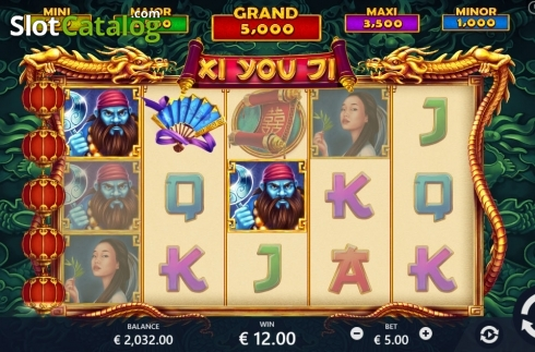 Win screen. Xi You Ji (Video Slot from Pariplay)