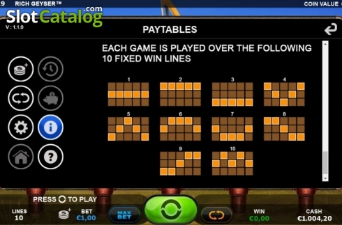 Lines. Rich Geyser (Video Slot from Plank Gaming)