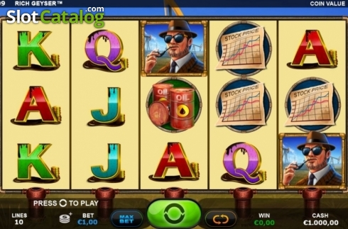 Reel Screen. Rich Geyser (Video Slot from Plank Gaming)
