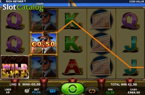Win Screen. Rich Geyser (Video Slot from Plank Gaming)