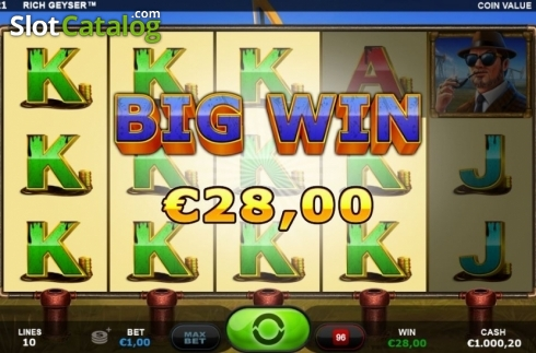 Big Win. Rich Geyser (Video Slot from Plank Gaming)