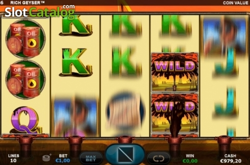 Re-Spin Reels. Rich Geyser (Video Slot from Plank Gaming)