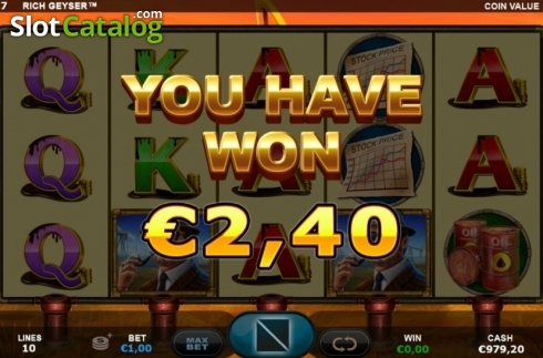 Re-Spin Win. Rich Geyser (Video Slot from Plank Gaming)