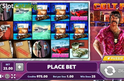 Reels screen. Colt P.I. (Video Slot from PlayPearls)