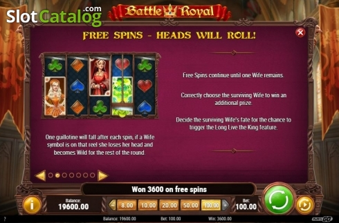 Free Spins Feature. Battle Royal (Play'n Go) (Video Slot from Play'n Go)