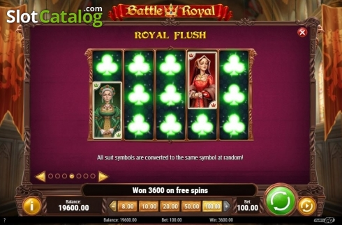 Royal Flush Feature. Battle Royal (Play'n Go) (Video Slot from Play'n Go)