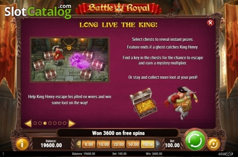 Pick Objects Feature. Battle Royal (Play'n Go) (Video Slot from Play'n Go)