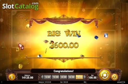 Big Win. Battle Royal (Play'n Go) (Video Slot from Play'n Go)