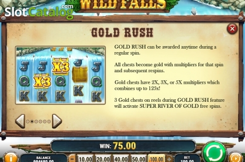 Features. Wild Falls (Video Slot from Play'n Go)