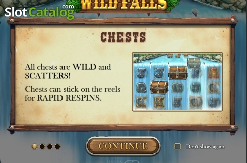 Start Screen. Wild Falls (Video Slot from Play'n Go)