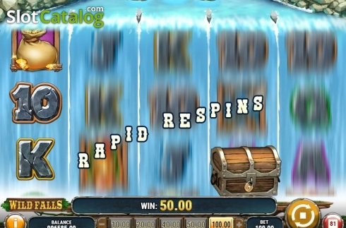 Rapid Respins. Wild Falls (Video Slot from Play'n Go)