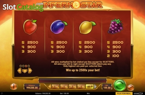skærm11. Inferno Star (Video Slot fra Play'n Go)