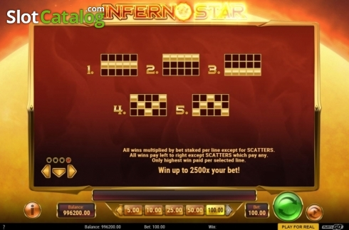 skærm12. Inferno Star (Video Slot fra Play'n Go)