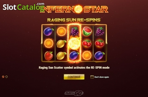 skærm2. Inferno Star (Video Slot fra Play'n Go)