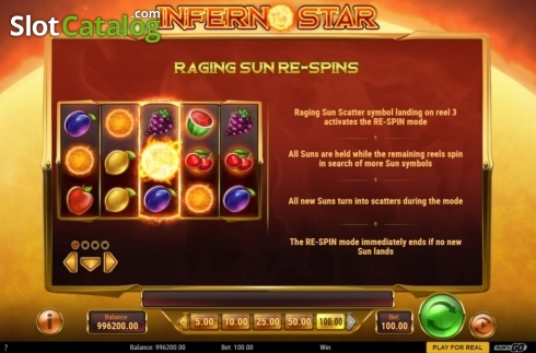 skærm9. Inferno Star (Video Slot fra Play'n Go)