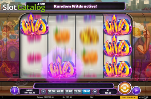 Sticky Random Wilds. Cash Vandal (Video Slot from Play'n Go)