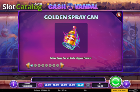 Feature. Cash Vandal (Video Slot from Play'n Go)