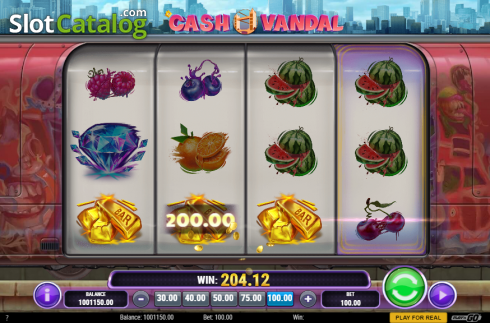 Win Screen. Cash Vandal (Video Slot from Play'n Go)