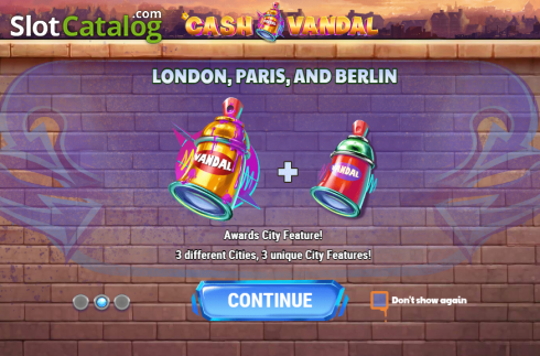 Intro 2. Cash Vandal (Video Slot from Play'n Go)