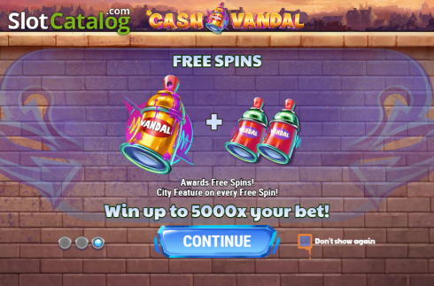 Intro 3. Cash Vandal (Video Slot from Play'n Go)