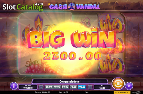 Big Win. Cash Vandal (Video Slot from Play'n Go)