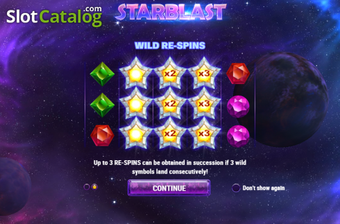 Intro 2. Starblast (Video Slot from Play'n Go)