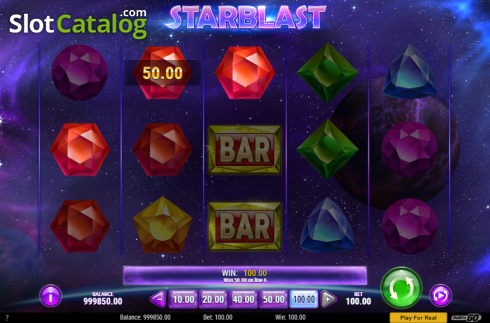 Win Screen. Starblast (Video Slot from Play'n Go)