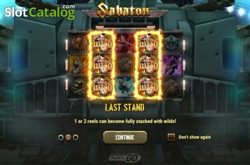 Intro 2. Sabaton (Video Slot from Play'n Go)