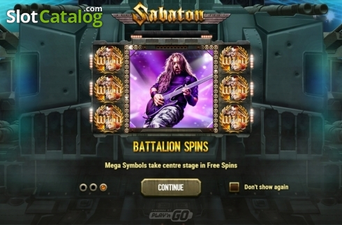 Intro 3. Sabaton (Video Slot from Play'n Go)