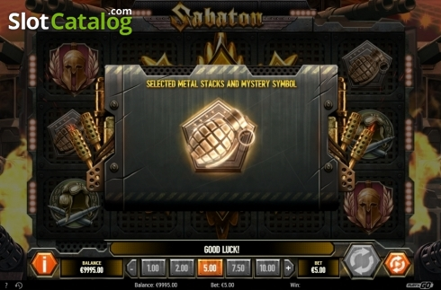 Mystery Symbol. Sabaton (Video Slot from Play'n Go)