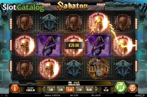 Win Screen. Sabaton (Video Slot from Play'n Go)