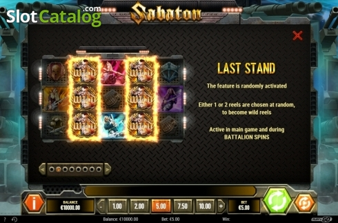 Expanded Wild. Sabaton (Video Slot from Play'n Go)