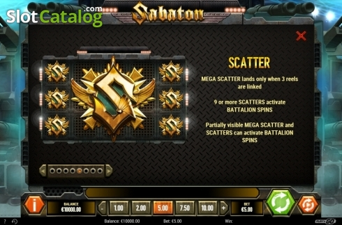 Scatter. Sabaton (Video Slot from Play'n Go)