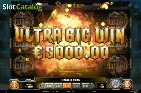Ultra Big Win. Sabaton (Video Slot from Play'n Go)