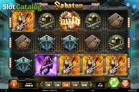 Reel Screen. Sabaton (Video Slot from Play'n Go)