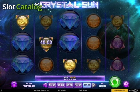 Skärm5. Crystal Sun (Video Slot från Play'n Go)