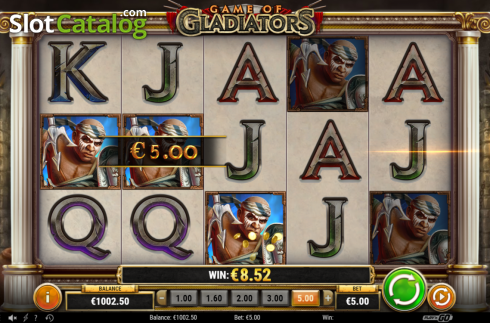 Feature 2 Win. Game of Gladiators (Video Slot from Play'n Go)