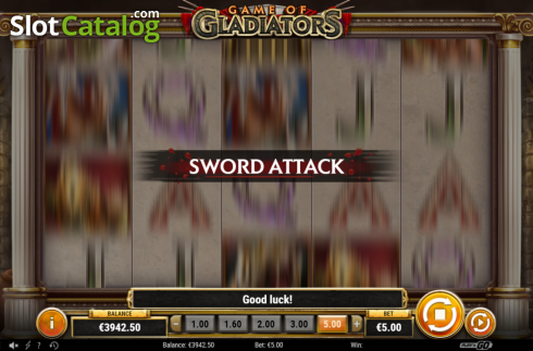 Feature 5. Game of Gladiators (Video Slot from Play'n Go)